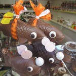 chocolate fish poissons d'avril easter windows Paris