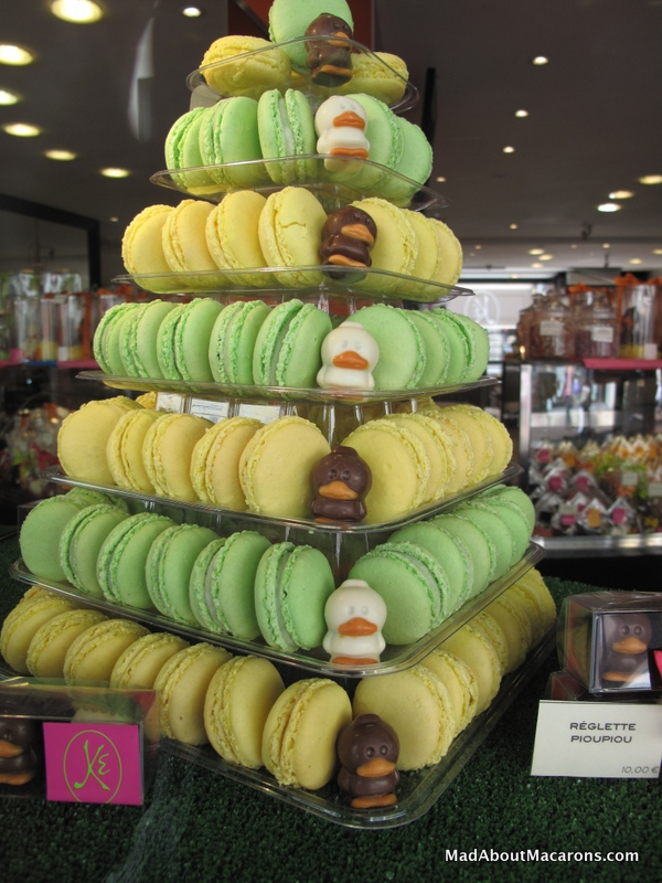 Macaron tower for Easter by Eric Kayser