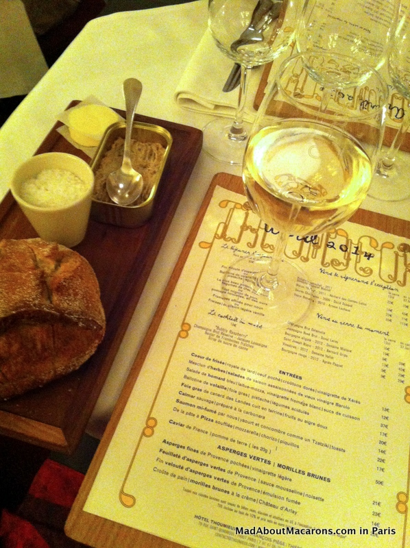 menu and aperitif Thoumieux brasserie 7th Paris