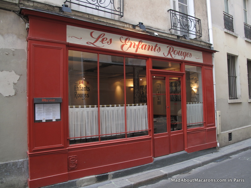 Les Enfants Rouges Restaurant wine bar Paris