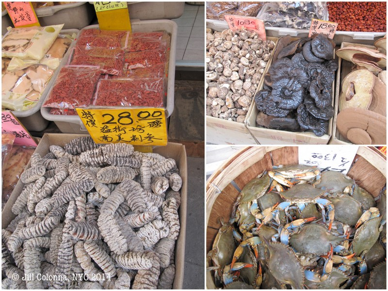 market stalls in Chinatown NYC