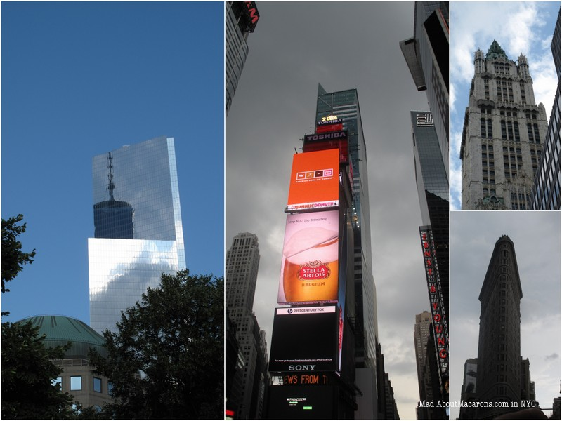 Manhattan towers and changing weather skyline in Times' Square