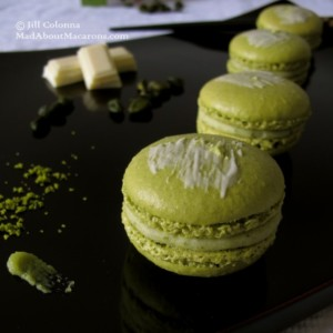 pistachio green tea and wasabi macaron recipe Mad About Macarons Jill Colonna