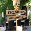 French macaron tasting sign