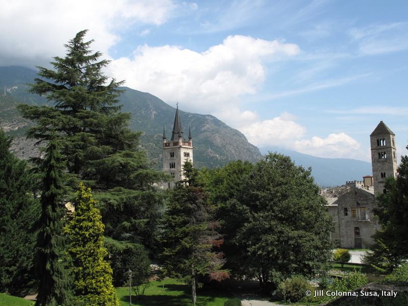 Italian countryside around Susa near French Alps