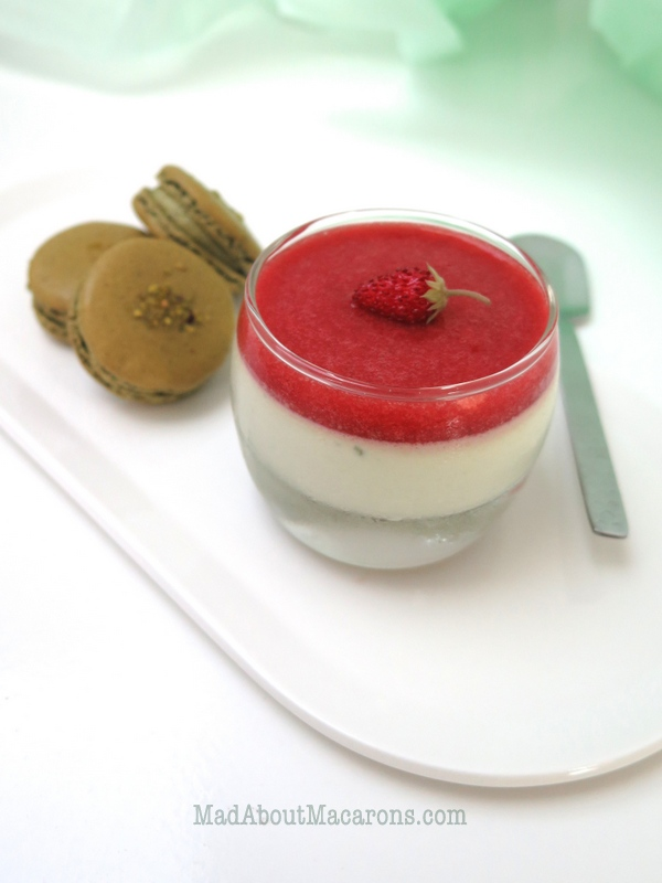 pistachio strawberry easy panna cotta recipe