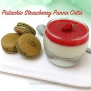pistachio strawberry panna cotta