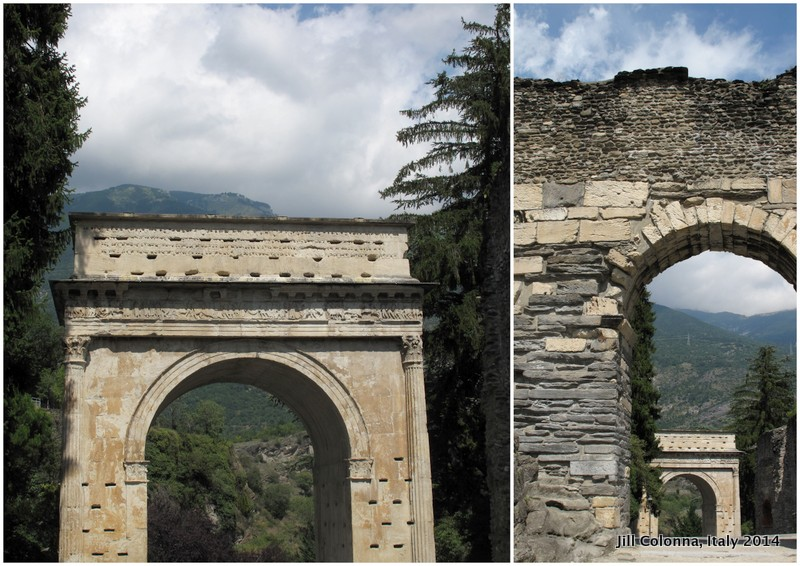 Roman gates in Susa, Italy