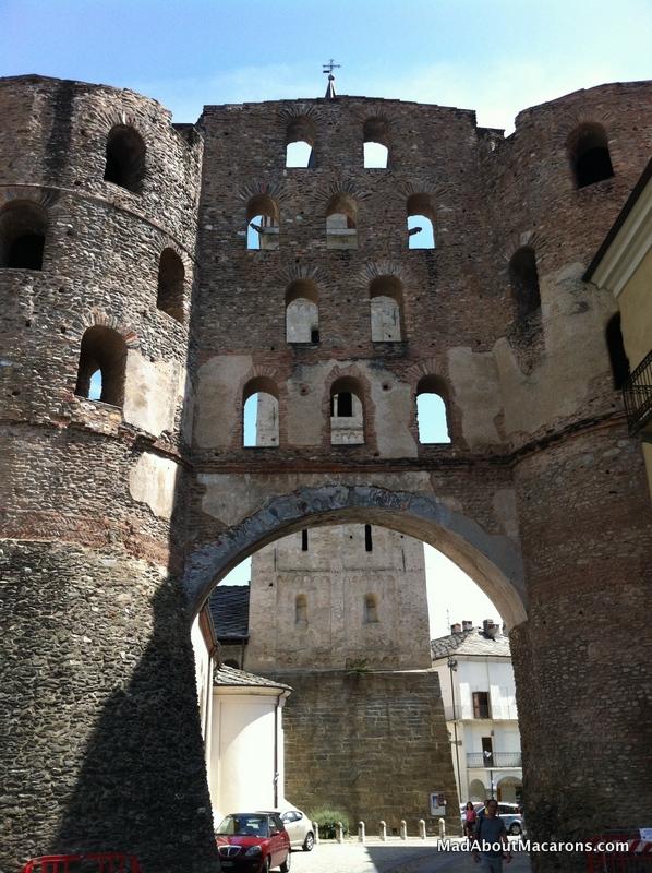 Roman Porta Savoia gate in Susa Italy