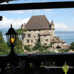 Lake view from the top terrace of the Jardins du Leman restaurant Yvoire