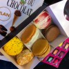 macaron box at the salon du chocolat in Paris 2014