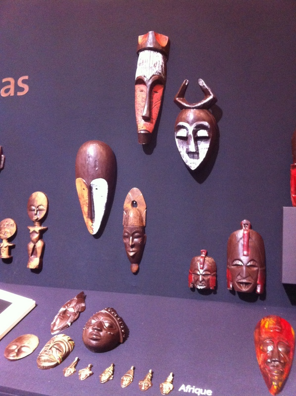 african art chocolate masks by chocolats Colas