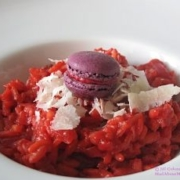 Beetroot horseradish risotto