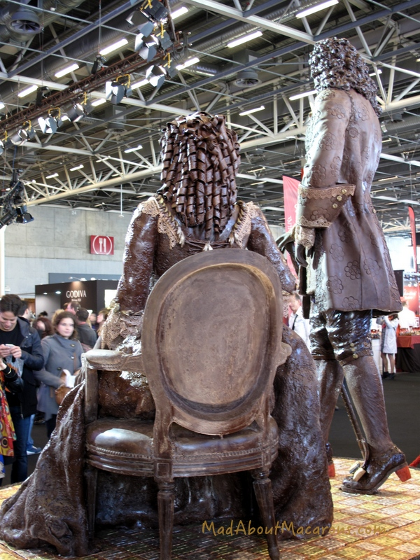 Leonidas chocolate sculpture Paris salon 2014