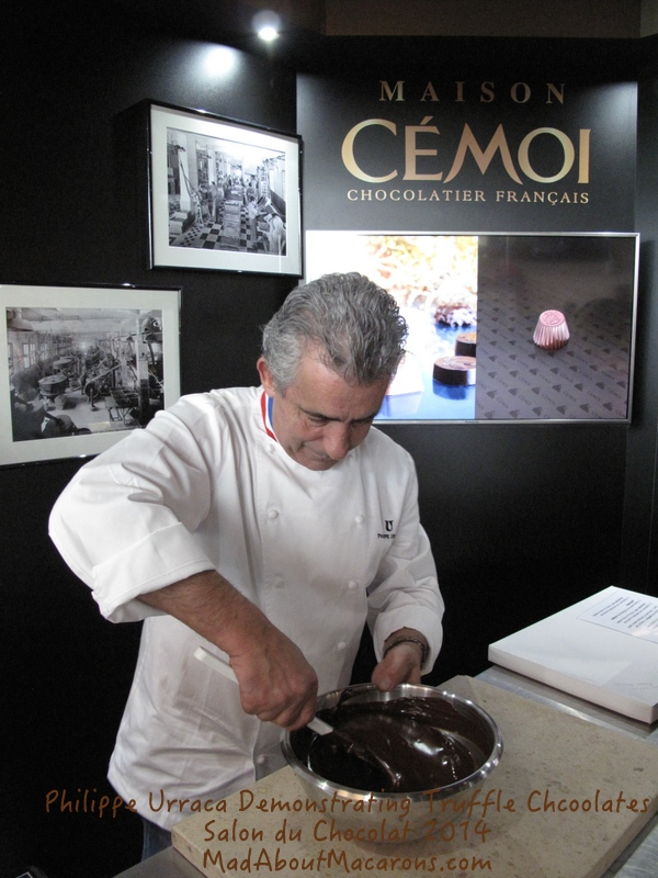 Philippe Urraca Cemoi chocolate demonstration Paris