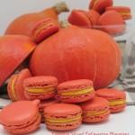 pumpkin spice macarons potimarron red kuri squash macarons