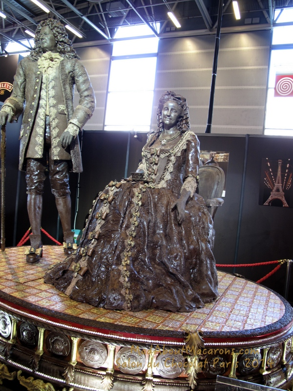 chocolate sculpture Paris 2014 court of Louis XIV