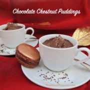 chocolate chestnut puddings