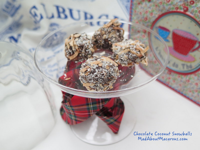 chocolate coconut snowballs (gluten free) no bake treats