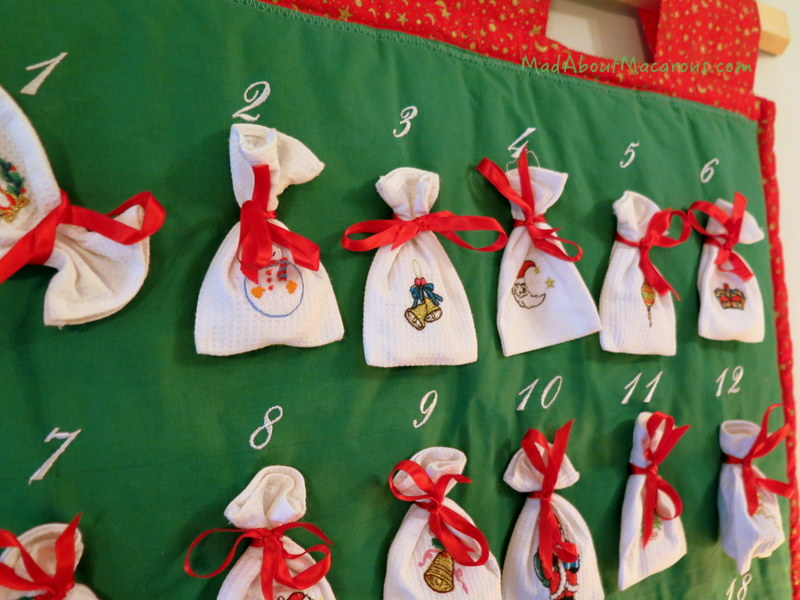 advent calendar bags for macarons