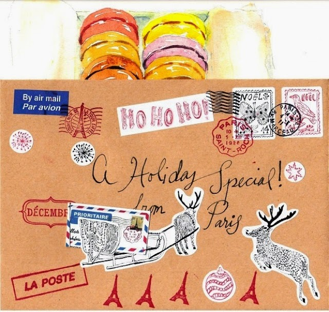 December holiday special sketch letters by Carol Gillott