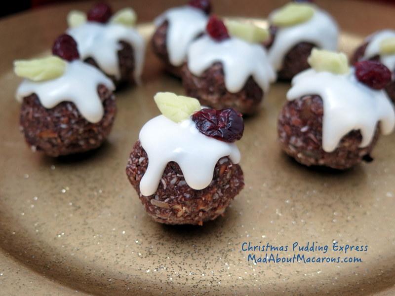 mini Christmas pudding bonbons