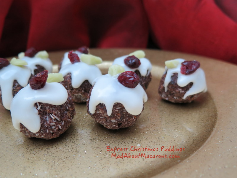 mini nut-free, healthy christmas puddings