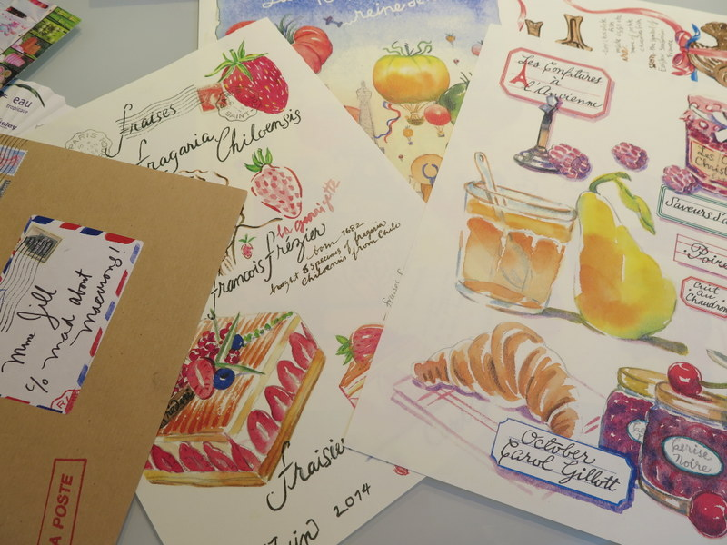 Sketch letters by Carol Gillott of Paris Breakfast blog