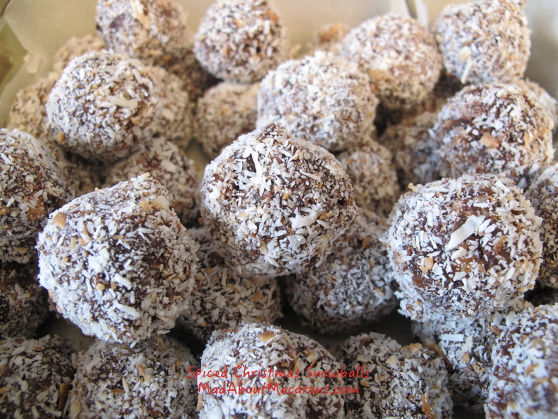 quick and easy spicy dried fruit christmas snowballs