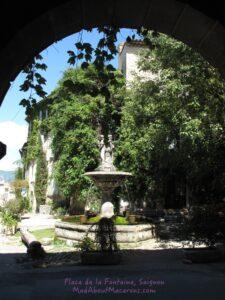 pretty fountain in the village of Saignon, Provence, France