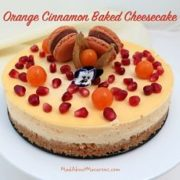 orange cinnamon Cheesecake