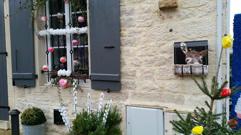 festive window in the village Veugeot Burgundy