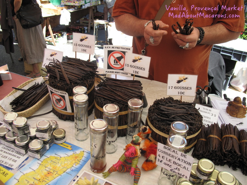Madagascan Vanilla on sale at the market in Provence