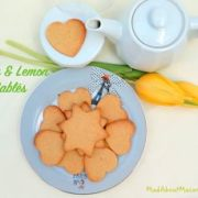 Honey lemon sable cookies