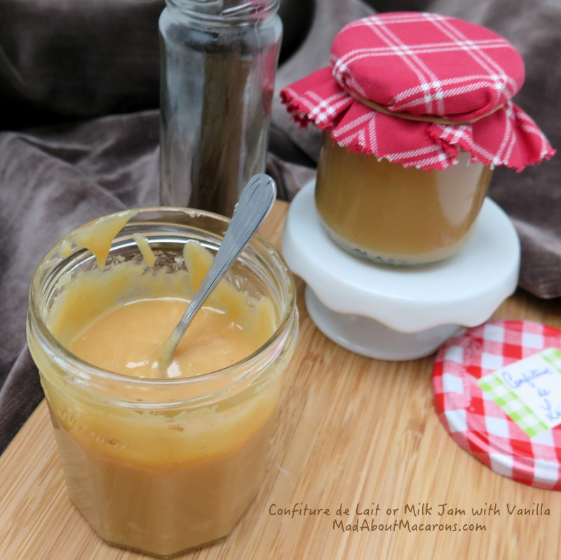 Confiture de lait recipe with vanilla bean