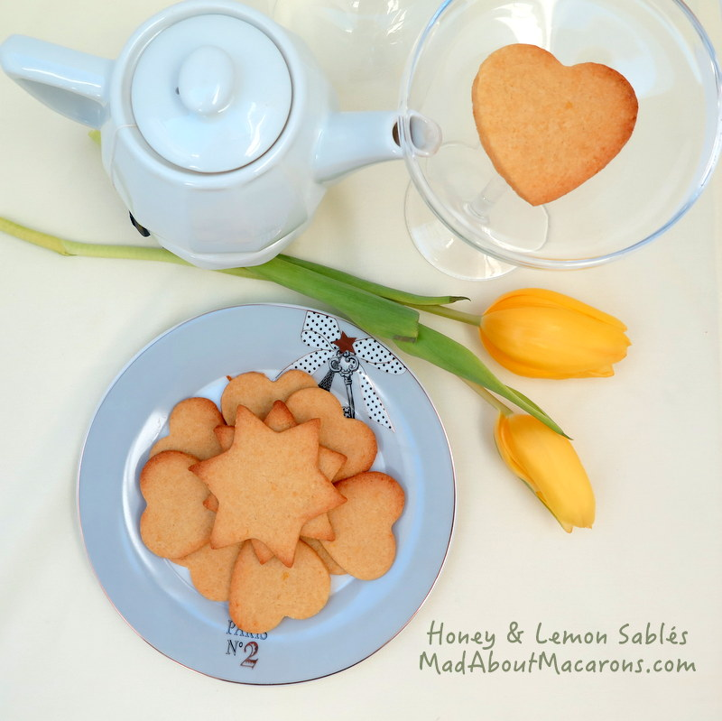 honey lemon sablé biscuits or cookies from the yolk recipe collection