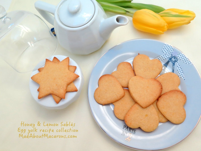 honey love-heart and star sablé cookies