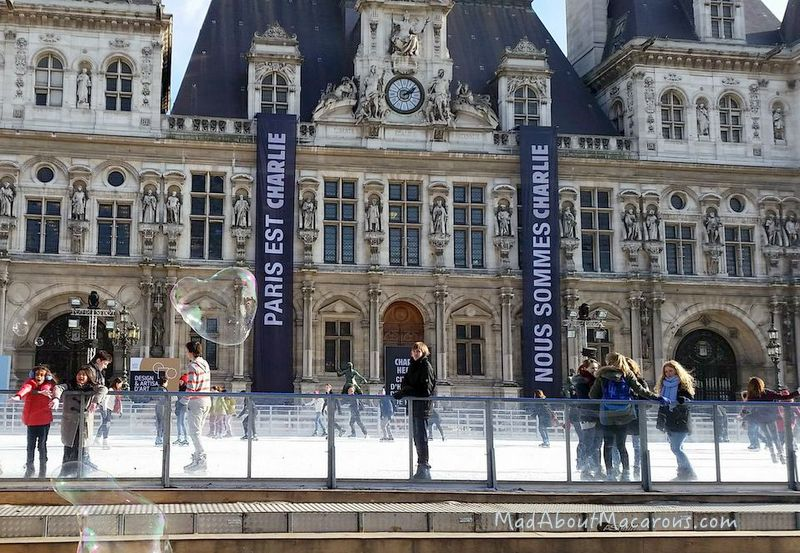 Hotel de Ville Paris with ice rink