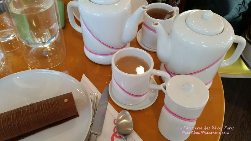 La Patisserie des reves Paris tea room with tea-set