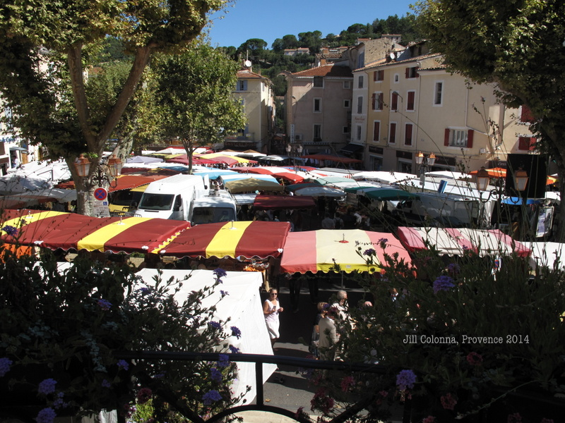 roofs of the French market of Apt in Provence