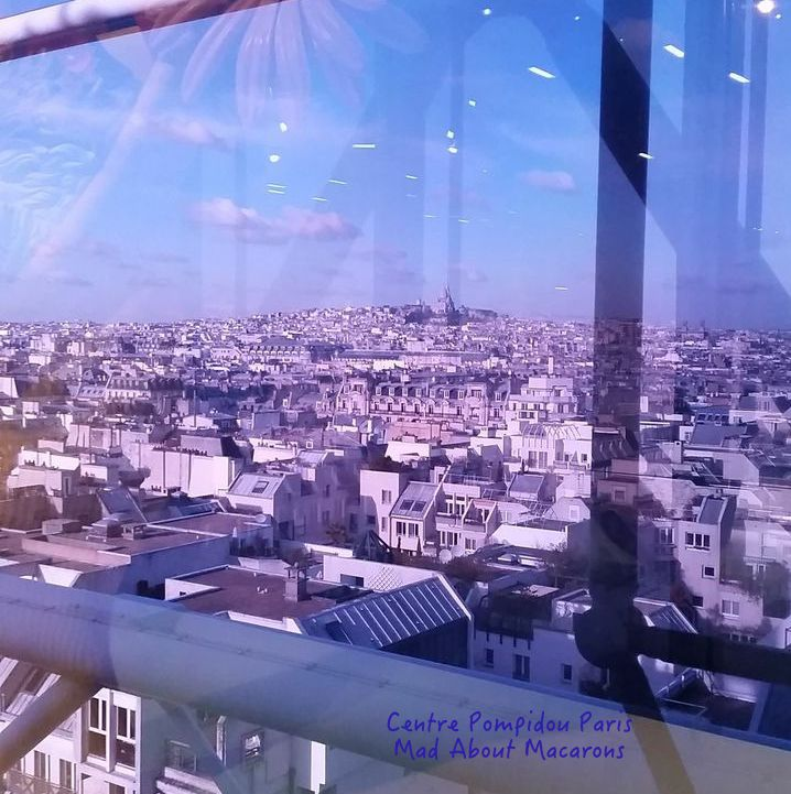 Rooftop view of Paris from the Centre Pompidou