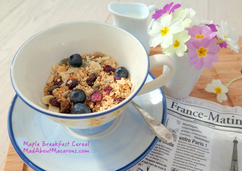 oat and maple healthy breakfast granola cereal