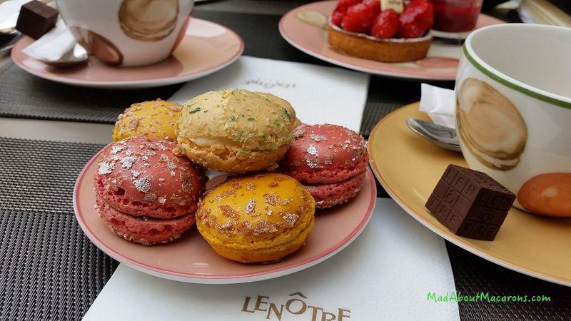 Le Notre Tea Salon Versailles macarons