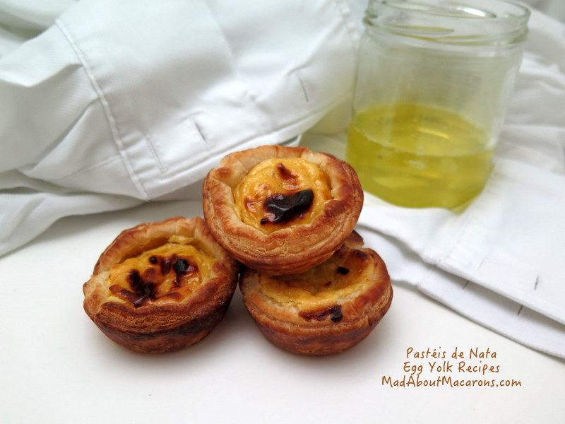 Pasteis de nata egg yolk recipe