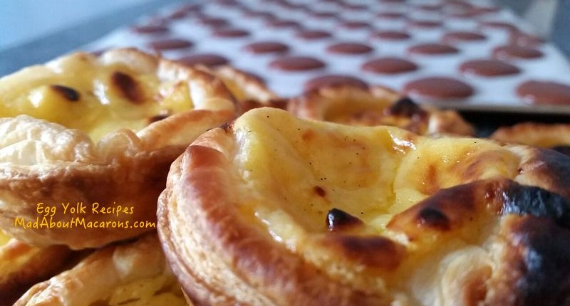 Portuguese custard tarts and macarons