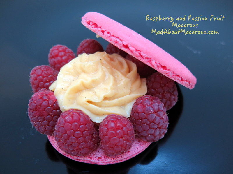 Raspberry passion fruit giant macaron