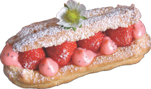 strawberry eclair from Teatime in Paris