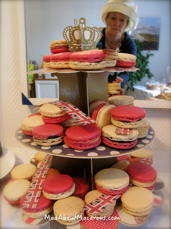 British royal macaron tea party