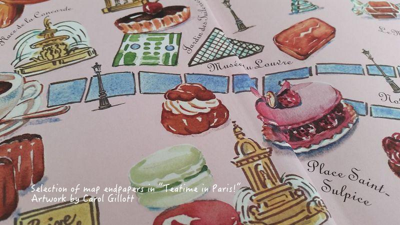 Carol Gillott watercolours in Teatime in Paris by Jill Colonna