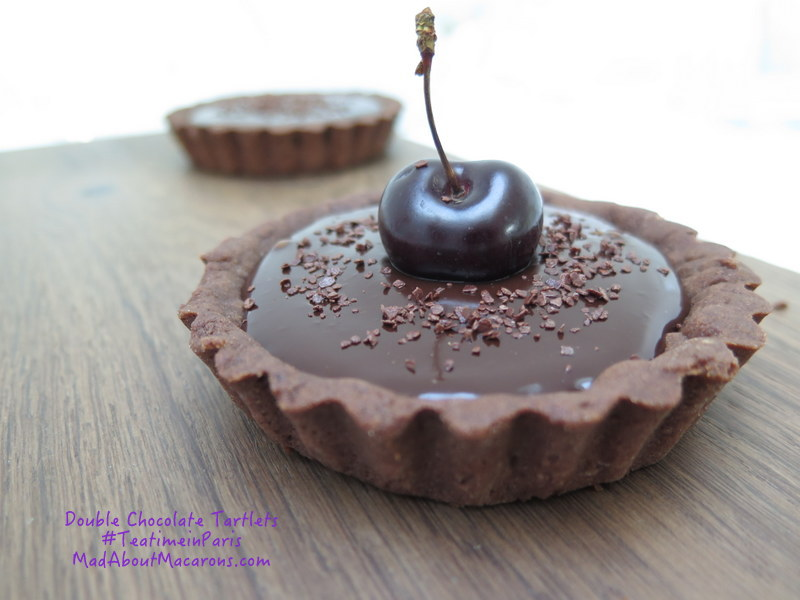 double chocolate tartlets recipe teatime in paris